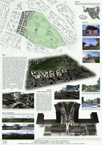 Návrh zástavby město Most